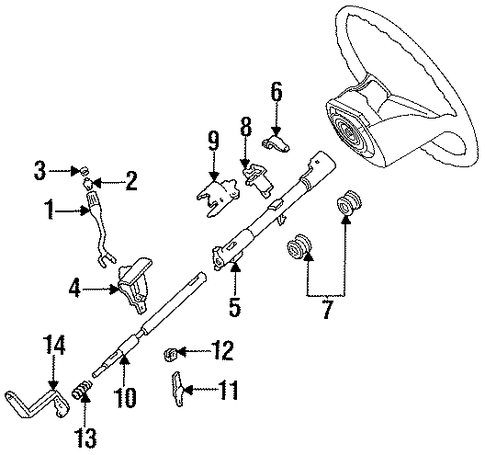 Steering/Housing & Components for 1997 Ford F-350 #1