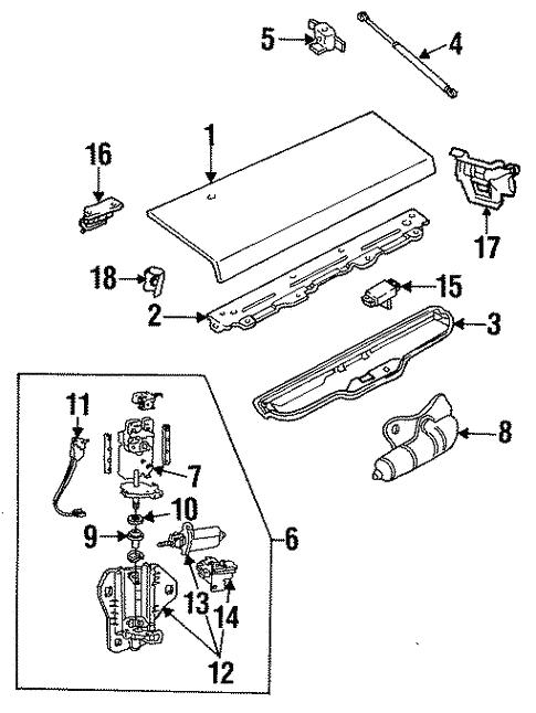 Oem 1992 Chevrolet Camaro Lift Gate Parts