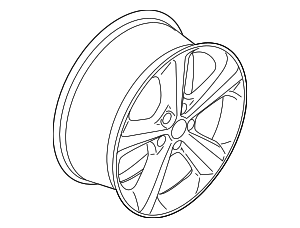 Wheel, Alloy - Ford (FT4Z-1007-K)