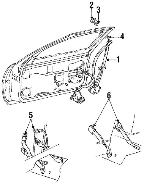 Oem 1992 Buick Regal Front Seat Belts Parts