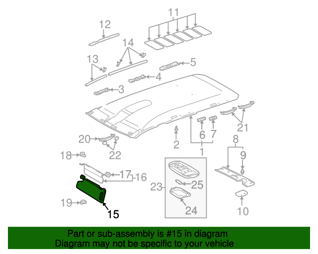 TOYOTA Genuine 74320-0C030-B4 Visor Assembly