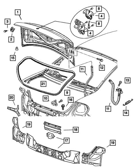 Deck Lid For 2004 Dodge Neon New Smyrna Mopar Parts