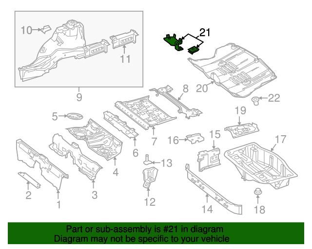 Under cover bracket mercedes benz 217 690 37 00 for Mercedes benz part numbers list