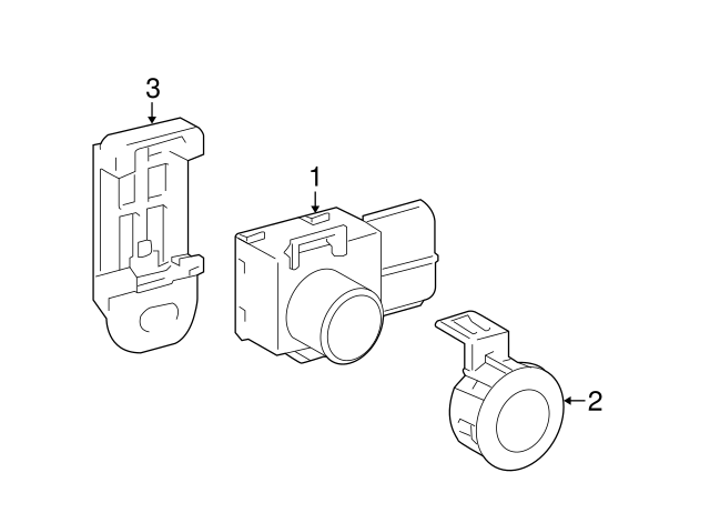 2013 2014 Toyota Prius V Park Sensor Retainer 89348 12010 H1