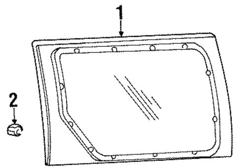 Glass - Side Door for 2000 Ford Windstar #0