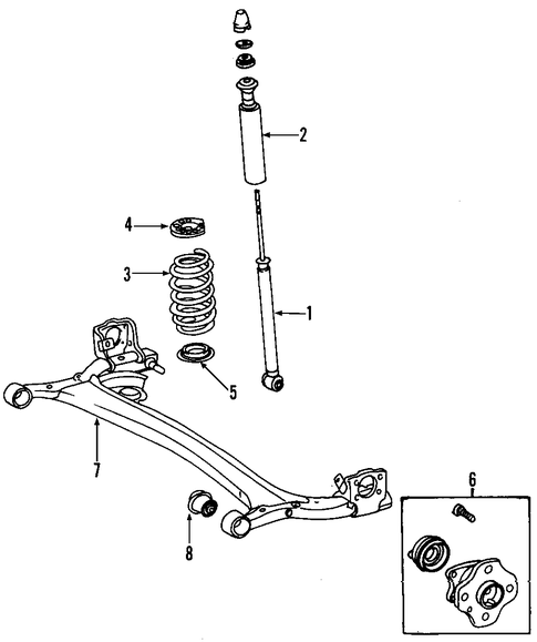 REAR SUSPENSION/REAR AXLE for 2001 Toyota Echo #1