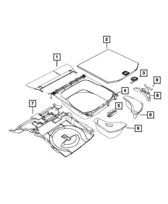 Genuine Jeep Accessories 82212085 Dark Gray Molded Cargo Tray