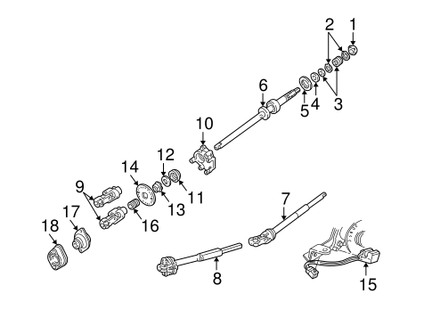 shaft  u0026 internal components for 2003 mercury grand marquis
