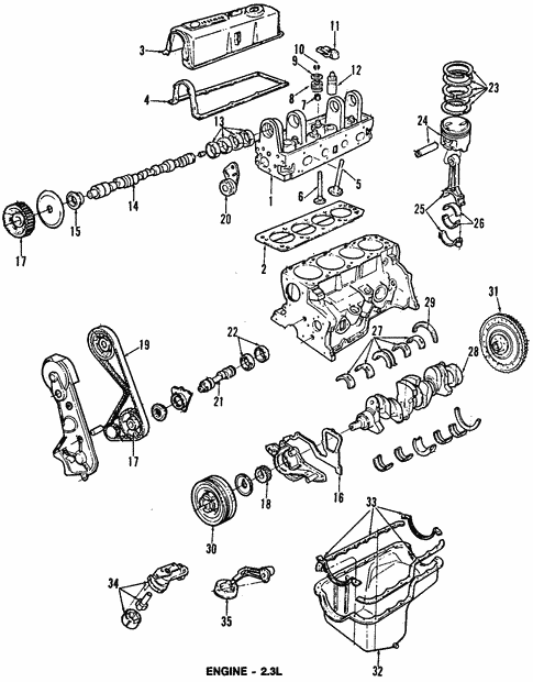 Engine Parts for 1987 Ford Aerostar #1