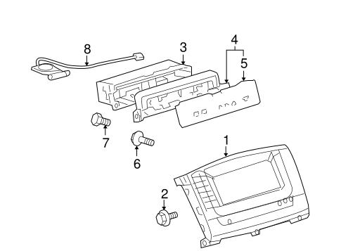 Navigation System Components For 2006 Lexus Lx470