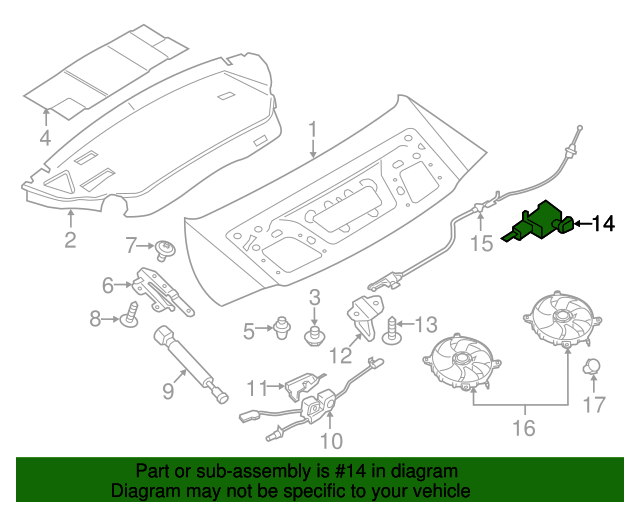 porsche 991 engine diagram trunk lock actuator motor porsche  991 504 117 01  sunset  porsche  991 504 117 01