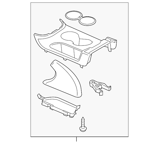 Genuine Mazda Cup Holder KA0G-64-630A-02