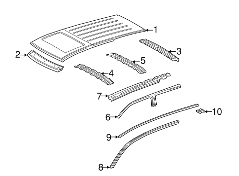 Exterior Trim - Roof for 2003 Mercedes-Benz ML 350 #0