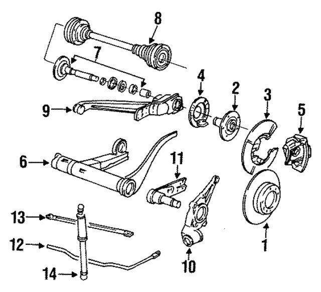 Axle Carrier - Porsche (951-333-088-32)
