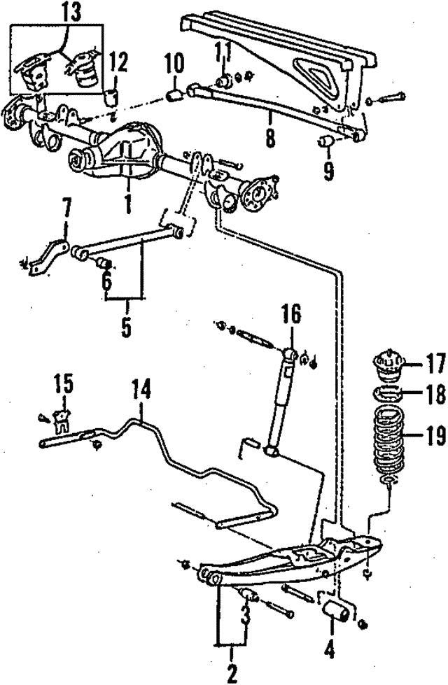 1989 1995 Volvo Anti Roll Bar Bushing 1330427