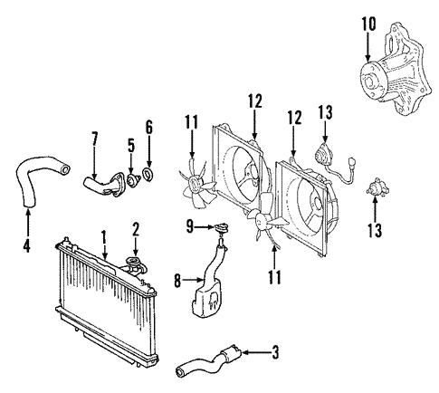 genuine oem radiator \u0026 components parts for 2004 toyota rav4 2008 Toyota RAV4 Coolant System Diagram