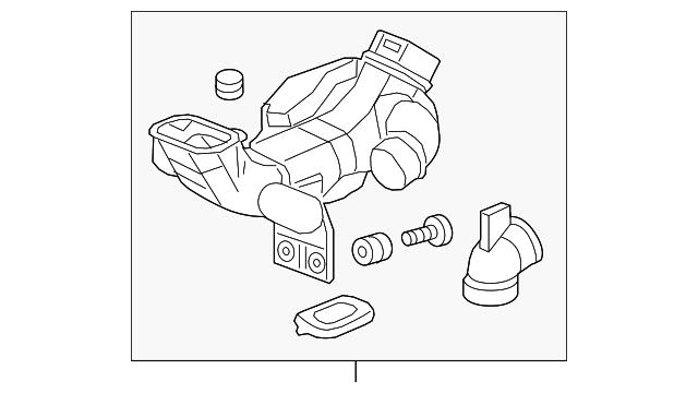 17253-REZ-A00 Genuine Honda Air Intake Tube