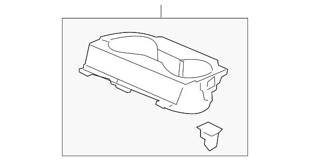 Honda Genuine 83401-TK8-A01ZA Cup Holder Assembly