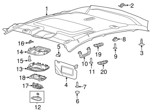 Ford Sunroof Switch Bm5z15b691l