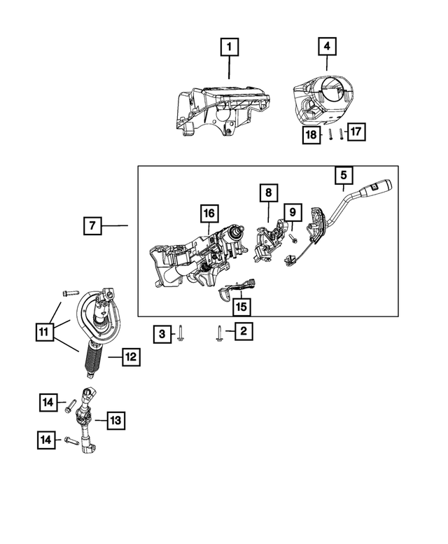 Steering Column - Mopar (6GD81SZ6AA)