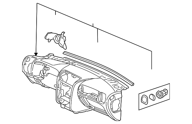 2005 Isuzu Ascender Instrument Panel 8258009030