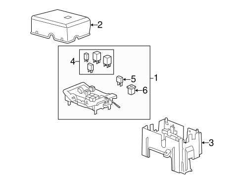 Oem 2013 Gmc Sierra 3500 Hd Fuse Relay Parts