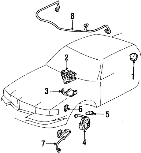 oem 2001 cadillac eldorado abs components parts