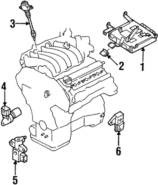 1996 2003 Infiniti Crankshaft Position Sensor 23731 31u11