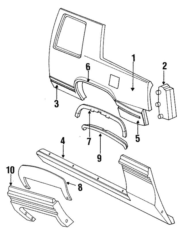 Rear Molding