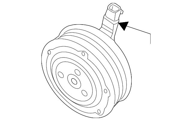 A//C Compressor Clutch Ford CV6Z-19D786-B
