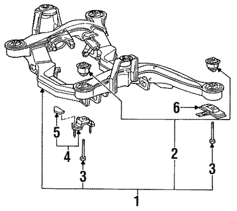 Suspension Mounting for 1994 Mercedes-Benz S 420 #0