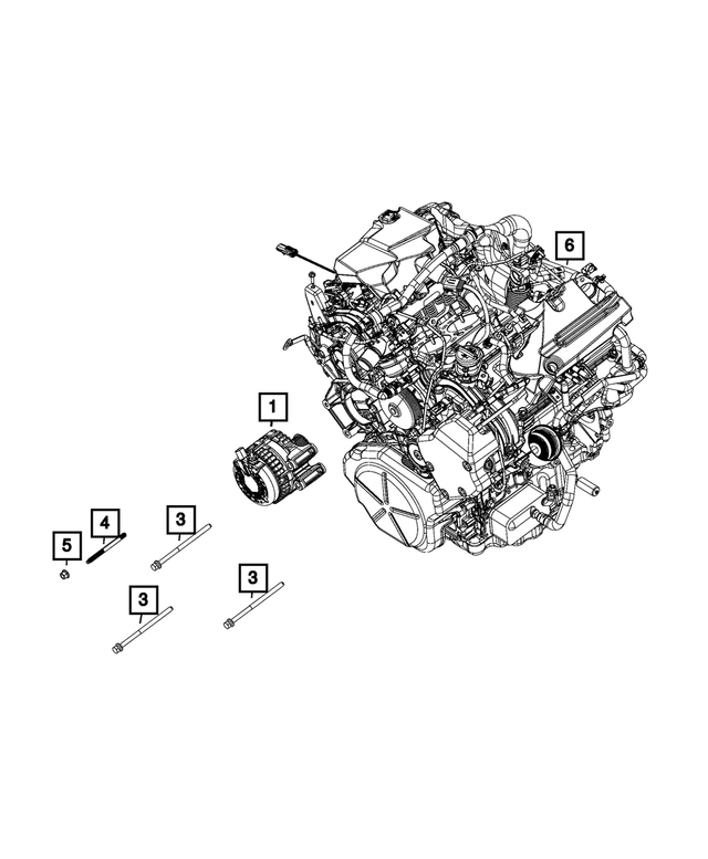 Alternator - Mopar (68292739AB)