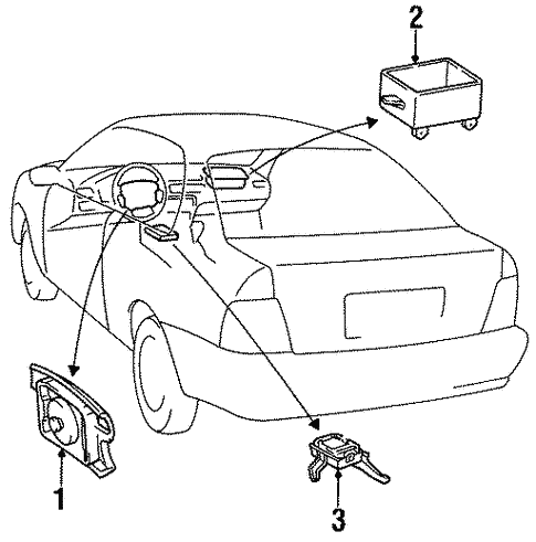 Air Bag Components For 1997 Toyota Tercel