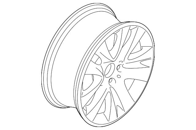 2011 2013 Bmw Wheel Alloy 36 11 6 791 478