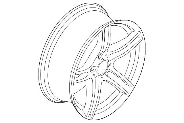 2011 2013 Bmw Wheel Alloy 36 11 6 791 999