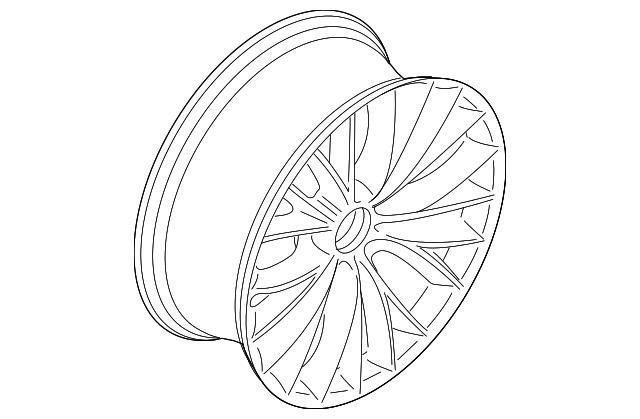 2011 2013 Bmw Wheel Alloy 36 11 6 791 485