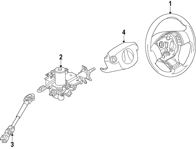 Steering Wheel - Nissan (48430-3AN2D)