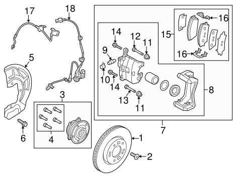 Kia 58731-4D000 Disc Brake Hydraulic Hose