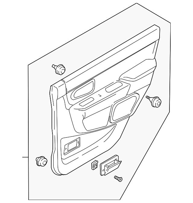Mitsubishi Door Trim Panel Mr356213