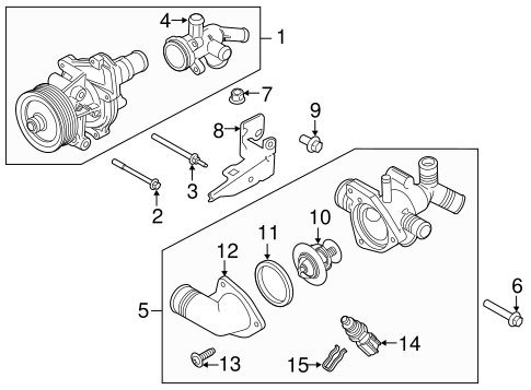Water Pump For 2015 Ford Transit 350