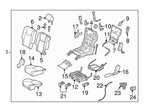 Rear Seat Components For 2013 Lexus Rx350