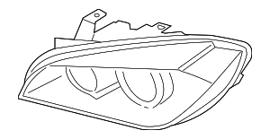 Headlamp - BMW (63-11-7-346-537)