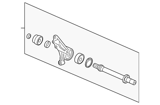 shaft assembly  half  at