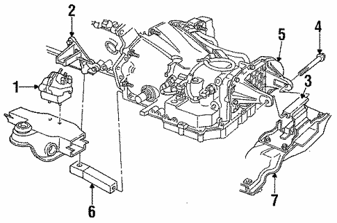 Engine Trans Mounting For 1996 Chrysler Concorde
