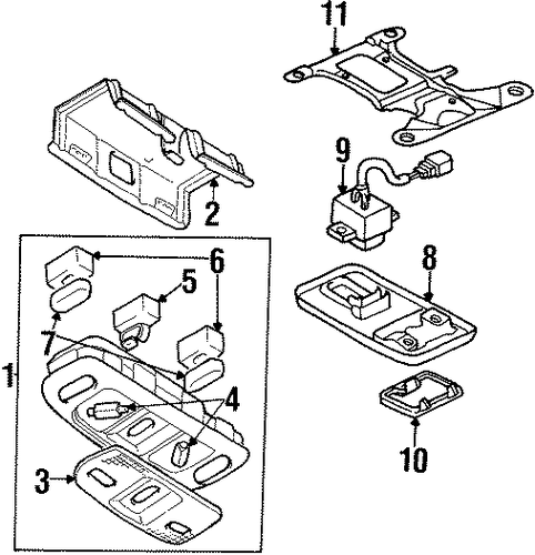overhead console for 2000 chrysler sebring parts