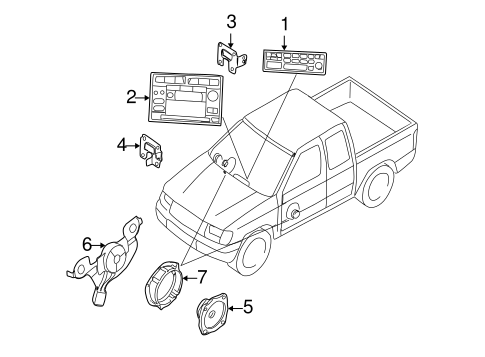 Body/Sound System for 2004 Nissan Frontier #1