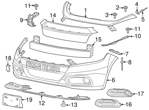 bumper components front for 2015 dodge dart moparnow. Black Bedroom Furniture Sets. Home Design Ideas