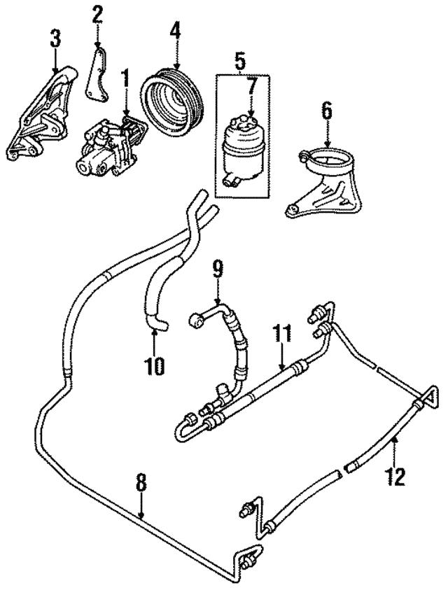 1995 1996 Jaguar Xj12 Power Steering Pump Mount Plate Ebc10964