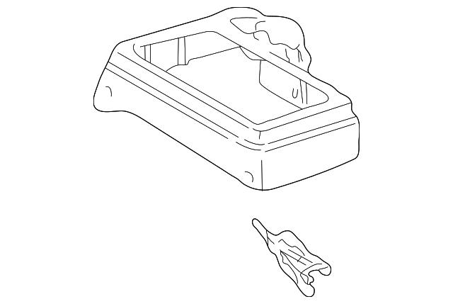 1998 2000 Toyota Tacoma Front Console 58802 04070 B0