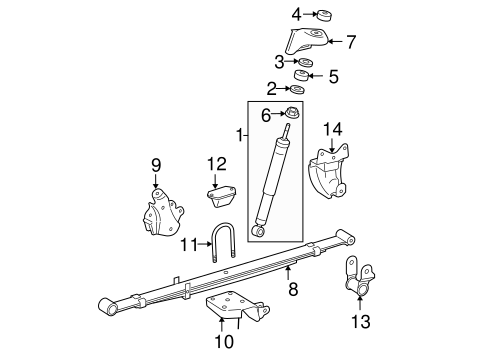 REAR SUSPENSION/REAR SUSPENSION for 2008 Toyota Tacoma #2